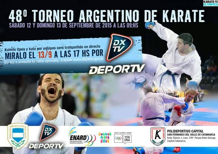 El afiche oficial del Argentino de Karate en Catamarca.