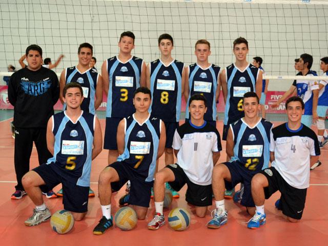 El equipo masculino de Cedetalvo en la Copa Argentina Sub-16.