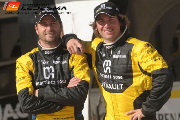 Christian Ledesma y Juan Bautista De Benedictis, la dupla que mañana correrá la final.
