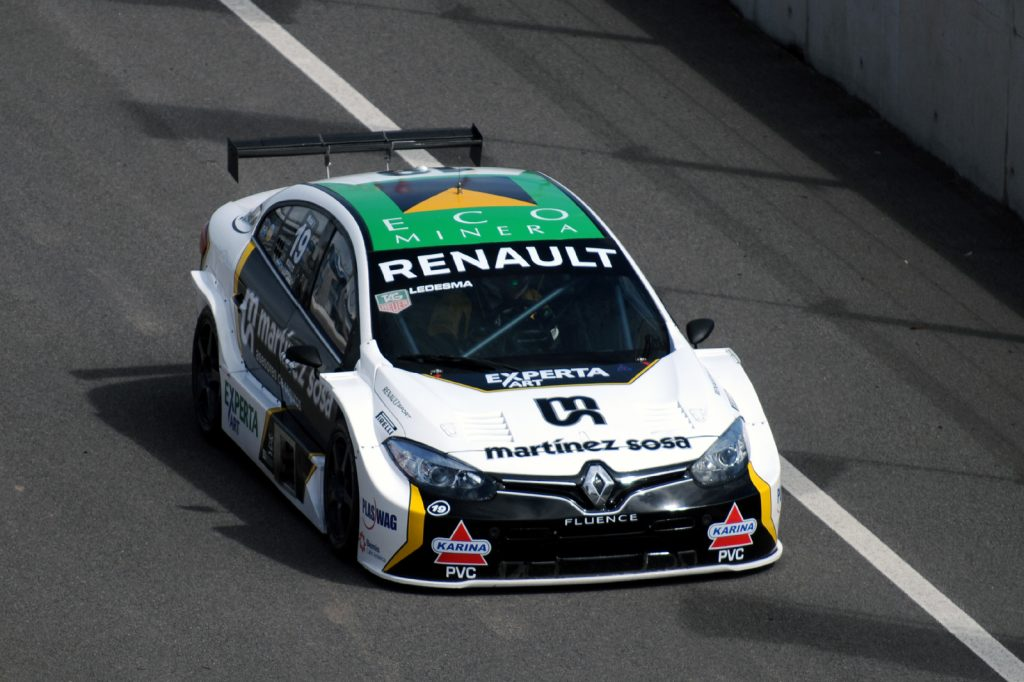 El auto de Ledesma conducido por De Benedictis.