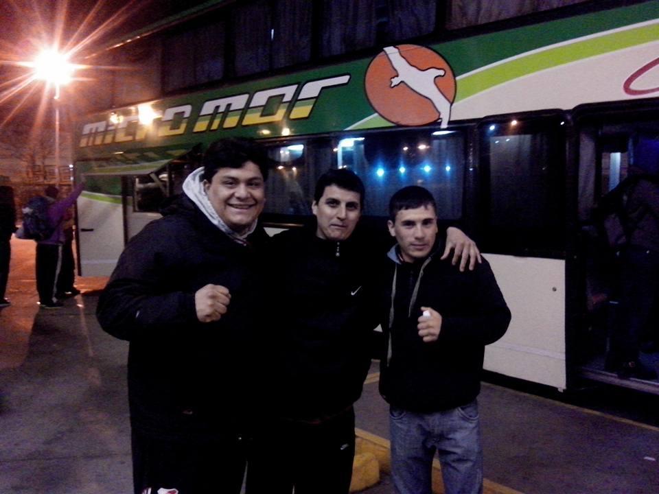 Luis Calderón y Oscar Quiroga camino al Cenard.