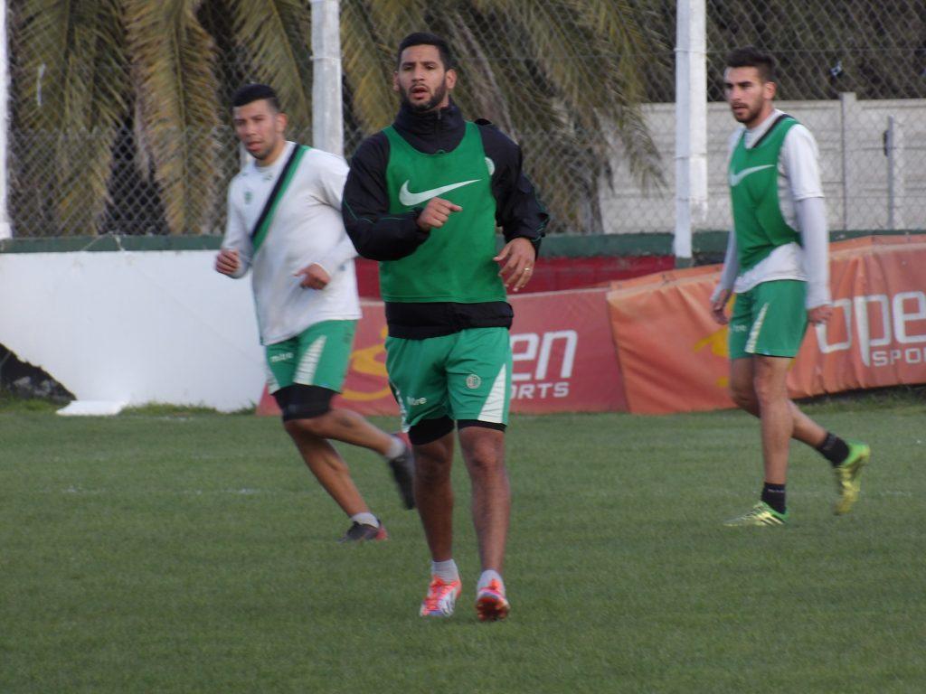 Damián De Hoyos volvió a entrenarse con sus compañeros.