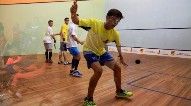 Germán Santos es el único marplatense en el Panamericano Juvenil de Squash.