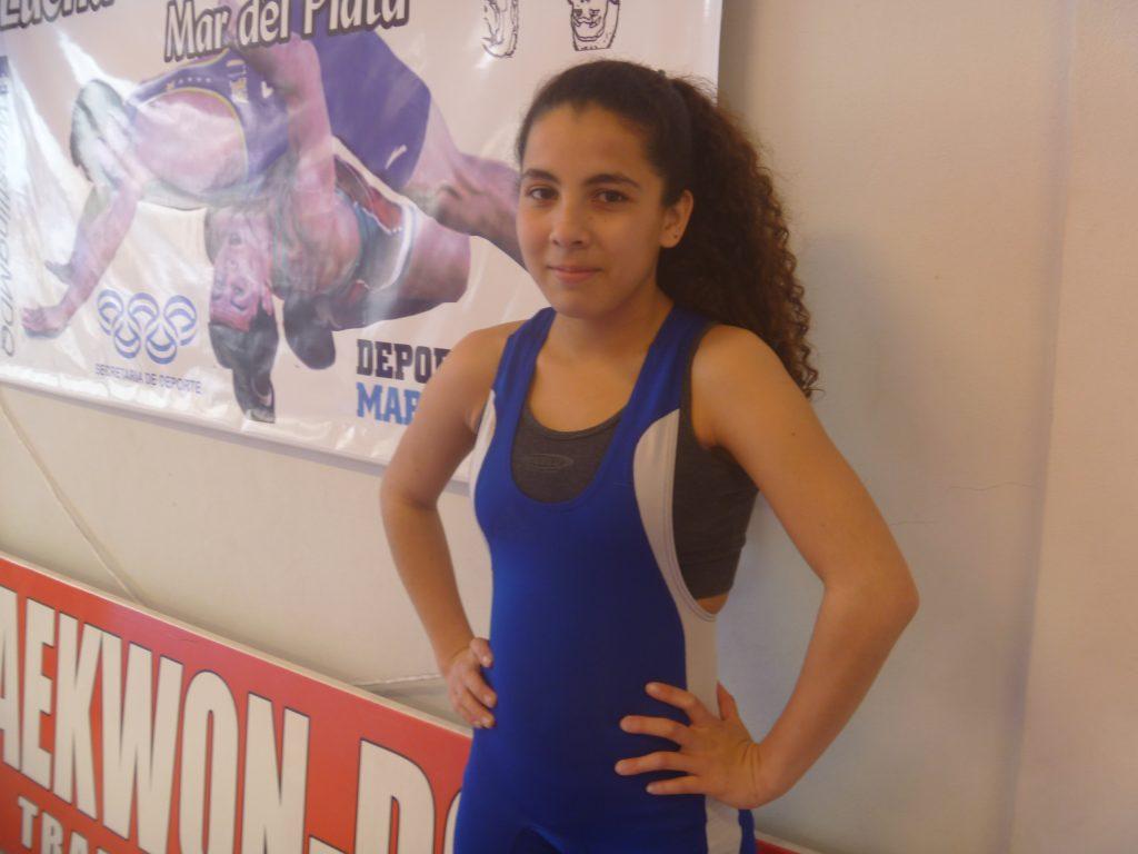 Milagros Ortiz, promesa de la lucha olímpica.