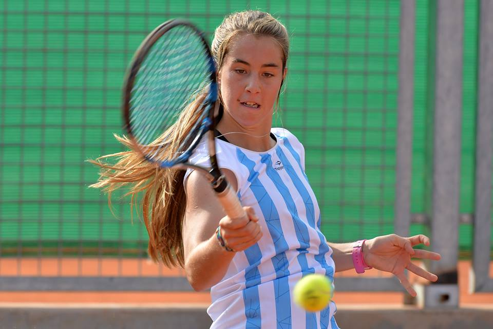 Paula Barañano defendiendo los colores argentinos.