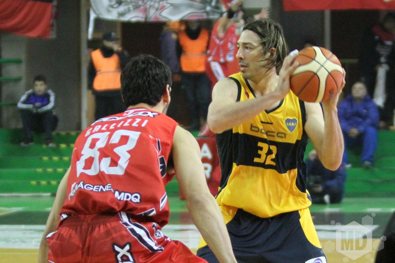 Adrián Boccia con 20 puntos fue el goleador del juego. (Foto: Carlos De Vita)