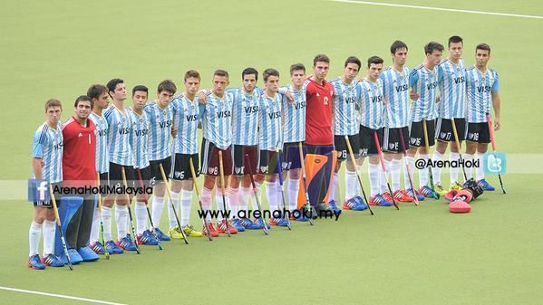 La formación argentina antes del partido frente a Pakistán.