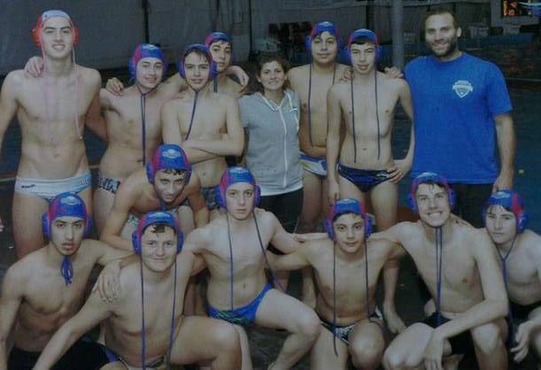 El equipo Sub-16 de Atlantis que representó a la ciudad en el Argentino de la categoría.
