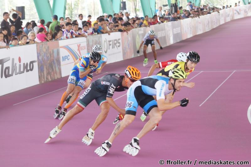 Ezequiel Capellano en las eliminaciones de los 1.000 metros.