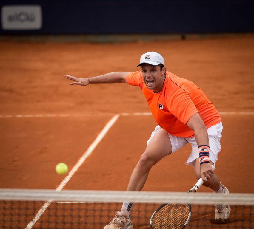 Horacio Zeballos ganó con claridad en su primera presentación.