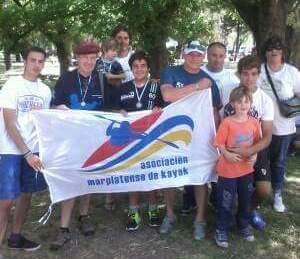 La delegación marplatense que participó en Olavarría.