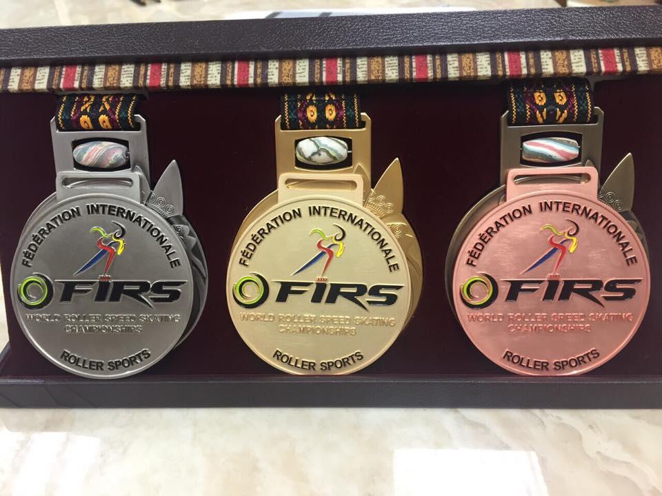 Las medallas que se entregarán en el Mundial.