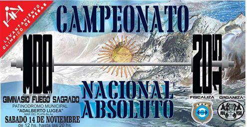 El sábado se desarrollará en Mar del Plata el Campeonato Nacional Absoluto de Levantamiento de Pesas.