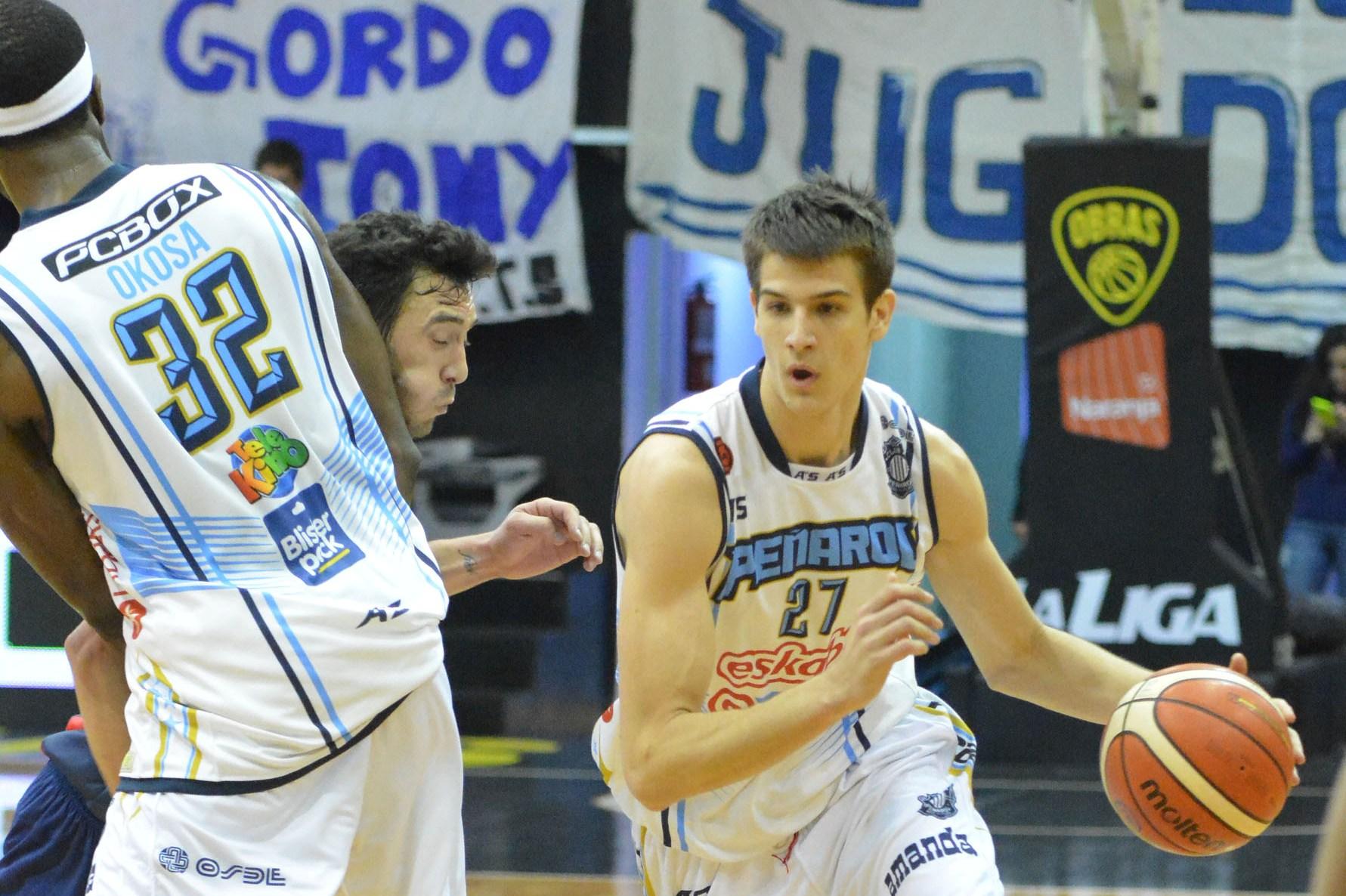 Nicolás Brussino tuvo una gran actuación en Obras. (Foto: LNB.com.ar)