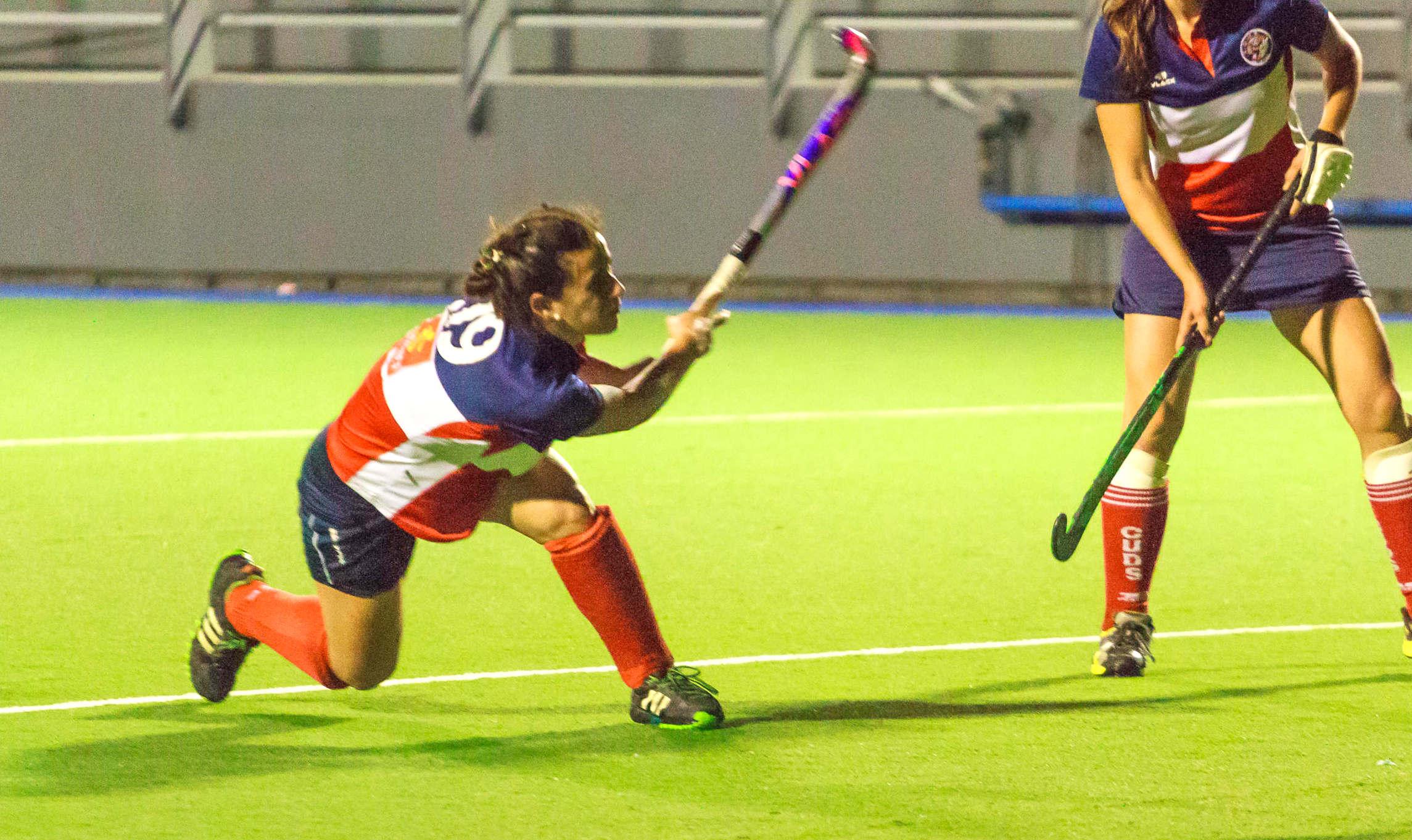 Sofia Paglione fue la goleadora del partido.
