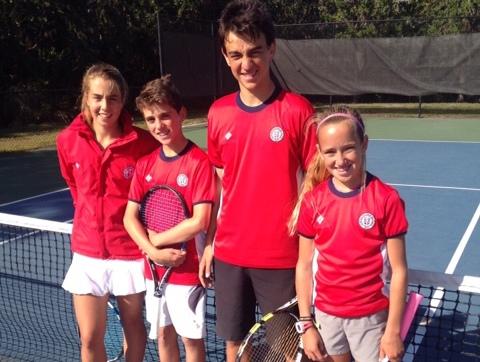Los cuatro tenistas del Náutico que estarán en Miami.