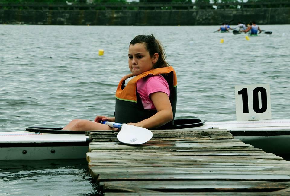 Mayra Sulpizio esperando su competencia.
