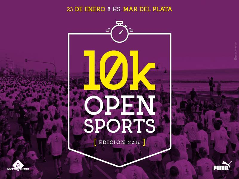 Se acercan los 10K de Open Sports.