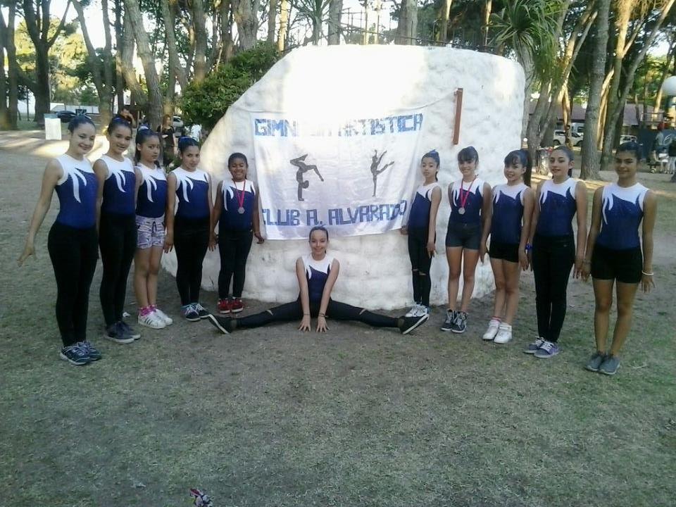 El equipo de Gimnasia Artística del Club Alvarado.