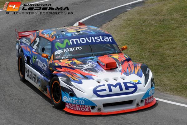 Christian Ledesma pudo terminar el campeonato en pista.