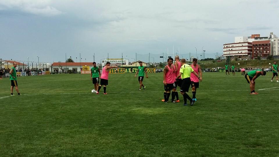 Aldosivi y Santamarina se midieron esta mañana. (Foto: Club Aldosivi)