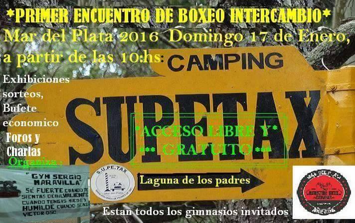 El afiche del Encuentro de Supetax.