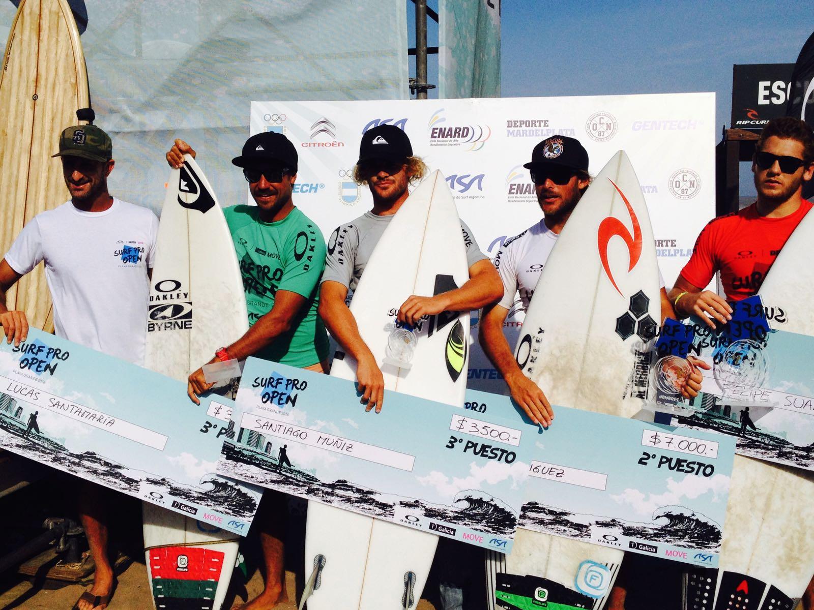 Felipe Suárez se consagró  campeón. En la foto, los finalistas. (Foto: Prensa ASA)