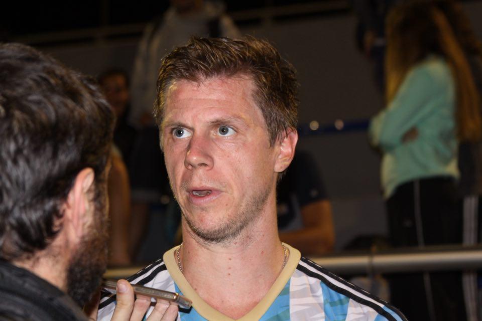 Lucas Rossi en la entrevista con Marca Deportiva. (Foto: Roxana Galbiatti)