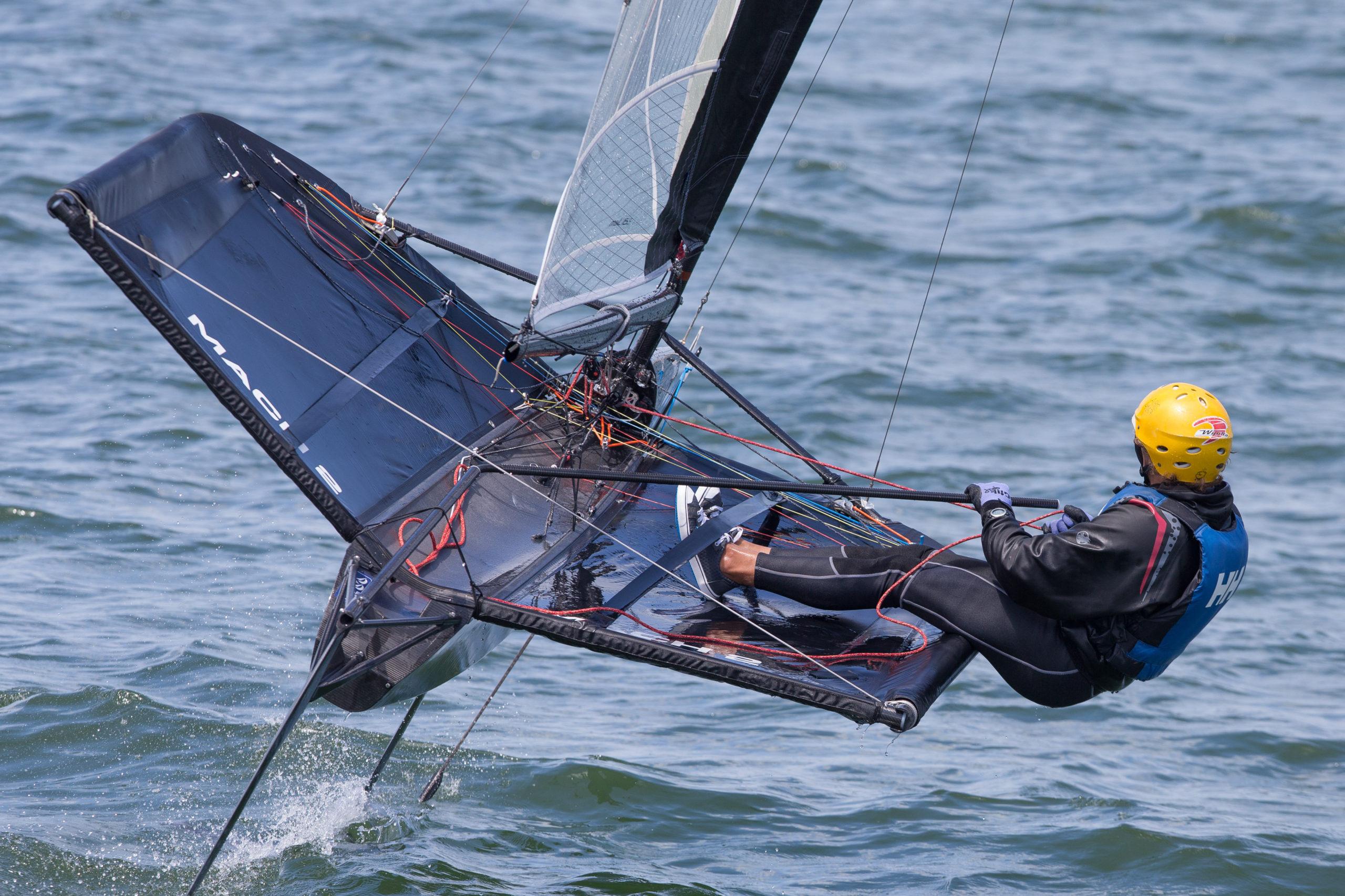 Greggi, el ganador del Campeonato Argentino de Moth. (Foto: Matias Capizzano)