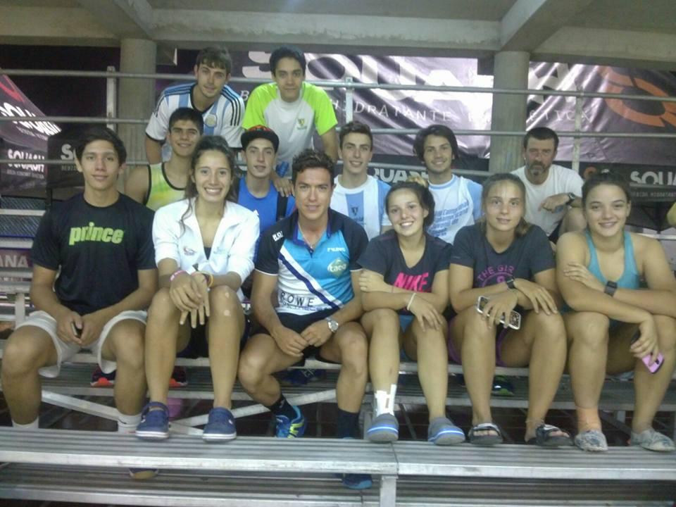 El equipo argentino de Squash que participó en el Sudamericano.