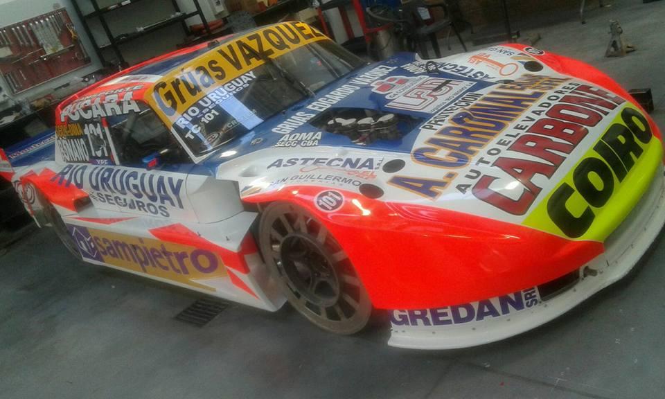 Así está el auto de Lionel Ugalde para esta temporada. (Foto: Facebook Lionel Ugalde)