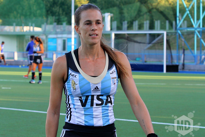 Carla Rebecchi fue la goleadora de la noche. (Foto: Carlos De Vita)