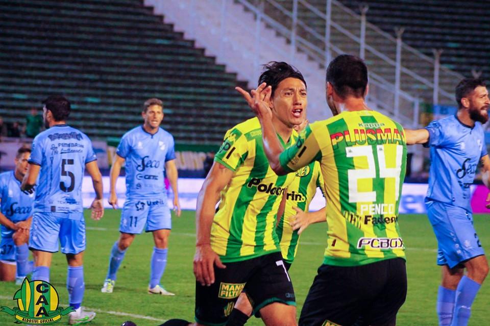 Pablo Lugüercio anotó el gol, pero luego se retiró lesionado. (Foto: Club Aldosivi)