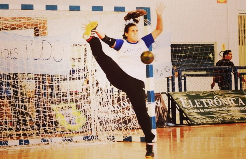Guadalupe Larralde en acción.