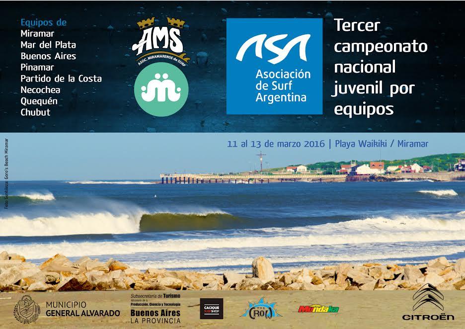 El afiche oficial del Torneo Nacional por Equipos.