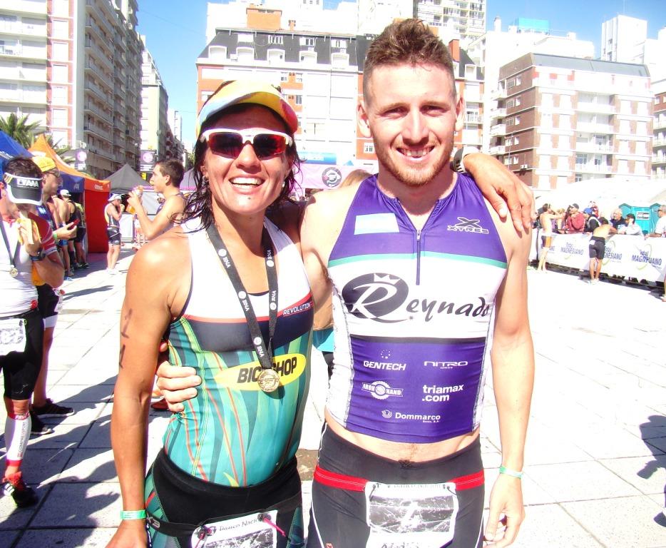 Verónica Ortega y Sergio Beltrán, los ganadores del Triatlón Olímpico.