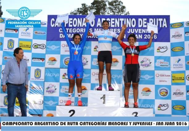 Carolina Turienzo en el podio.