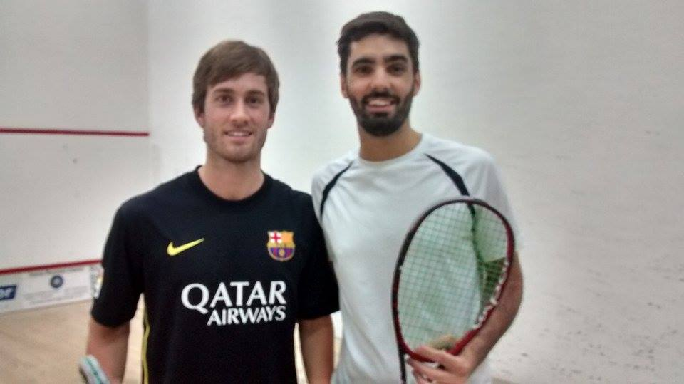 Leandro Romiglio y Juan Pablo Roude antes de jugar la final.