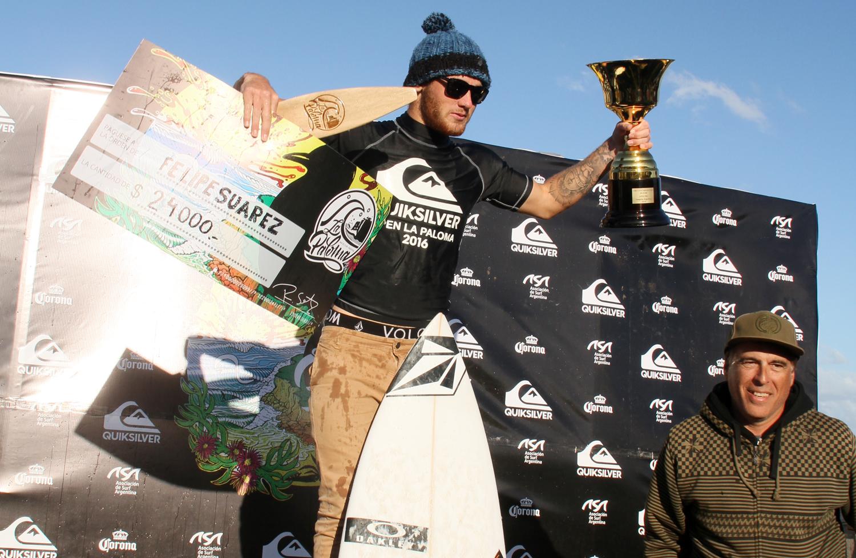 Suárez se llevó 24.000 pesos que destinó Quiksilver para el ganador. Ganó 3 de 6 etapas.