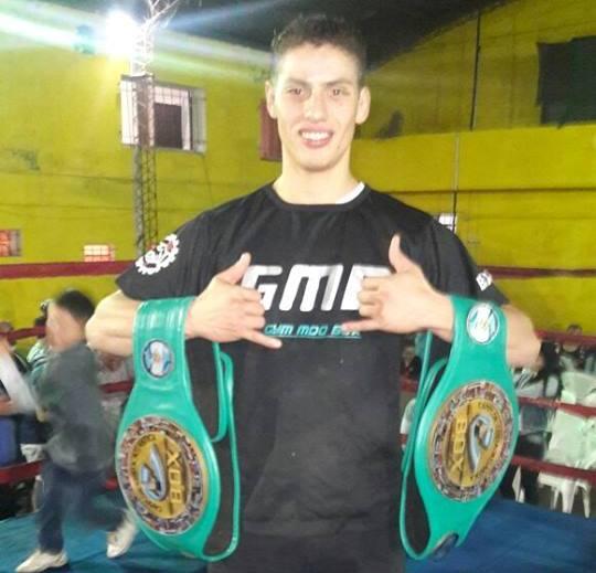 Gustavo Chamorro es uno de los nuevos boxeadores profesionales de la ciudad.
