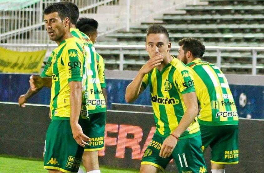 Neri Bandiera celebrando su gol. (Foto: Club Aldosivi)