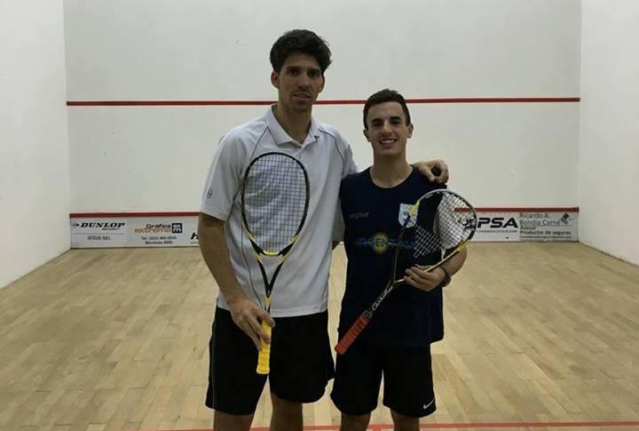 Matías Valenzuela y Germán Santos se enfrentaron hoy en la qualy.