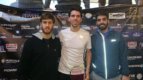 Leandro Romiglio (máximo favorito), Matías Valenzuela y Juan Pablo Roude; tres de los marplatenses que estarán en cancha.