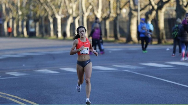 Florencia Estévez durante la competencia de Rosario.