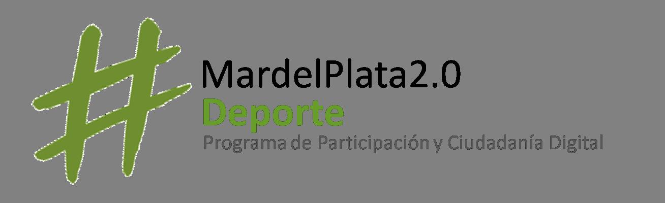El logo del Programa Mar del Plata 2.0 Deporte.