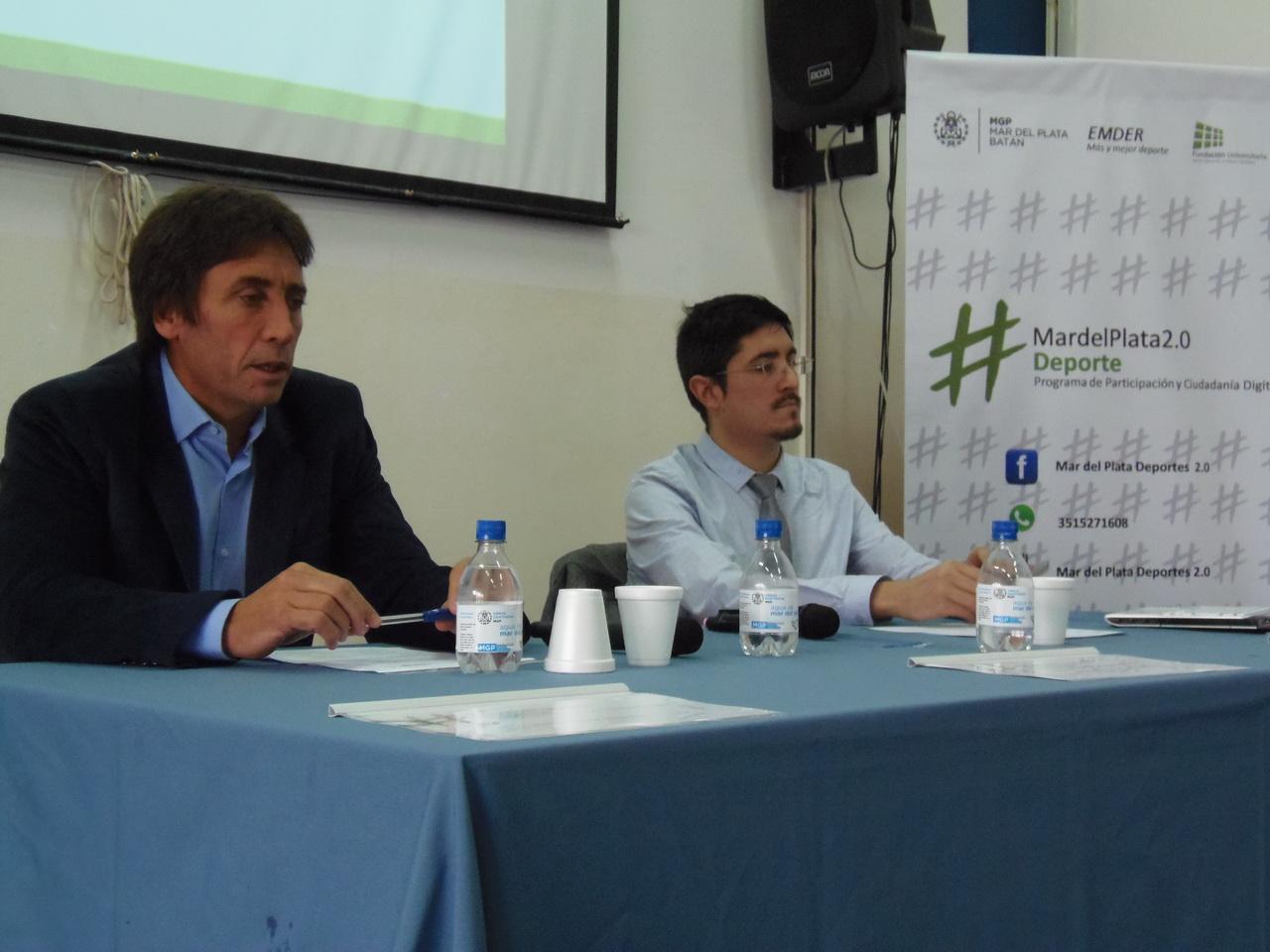 La presentación del Programa Mar del Plata 2.0 Deporte.