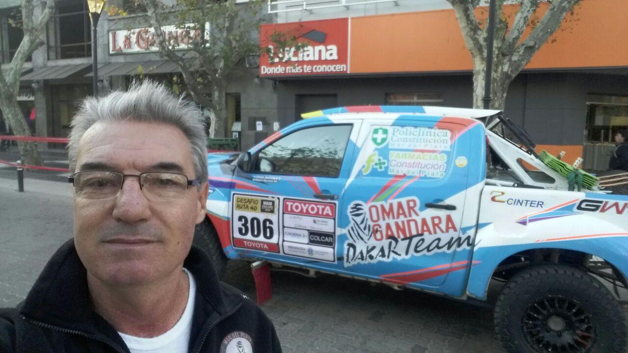 Omar Gándara sigue adelante en el Desafío Ruta 40.