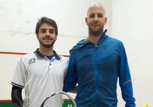 Mariano Burdet y Joaquín Barilari en la previa de la final.