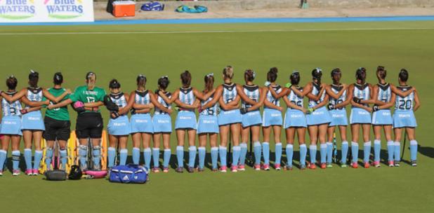 La alineación argentina en el partido de hoy.
