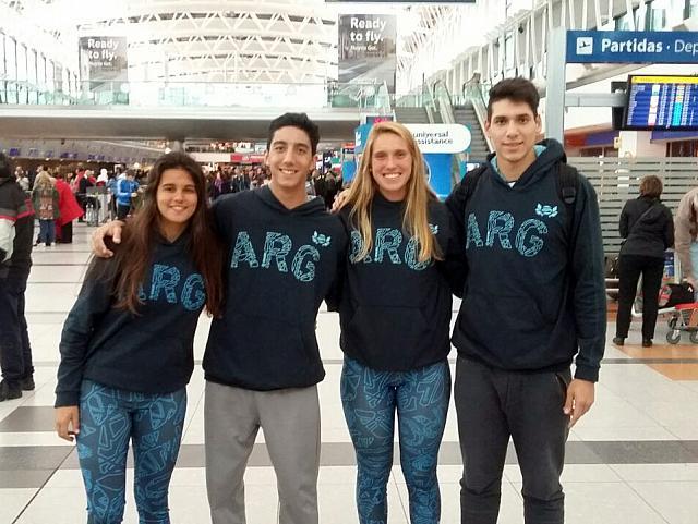 Gonzalo Aulisi, Exequiel Yacob, Virginia Beguiristain y Julia Díaz Neli. (Foto: Prensa FEVA)